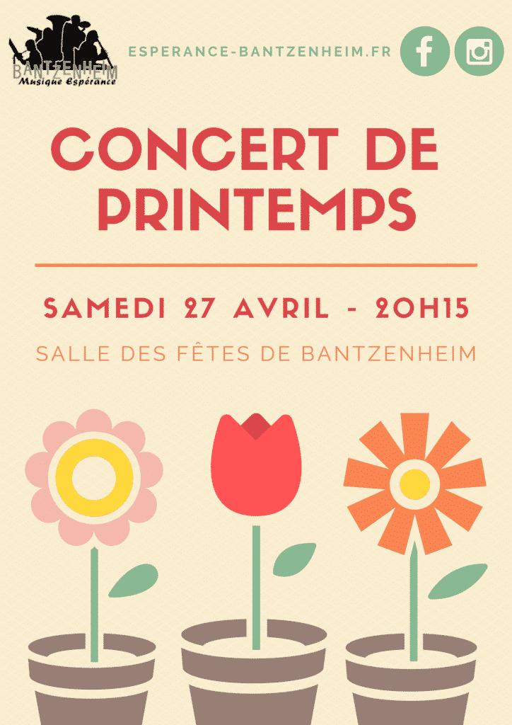 Affiche Concert de Printemps Bantzenheim 2019